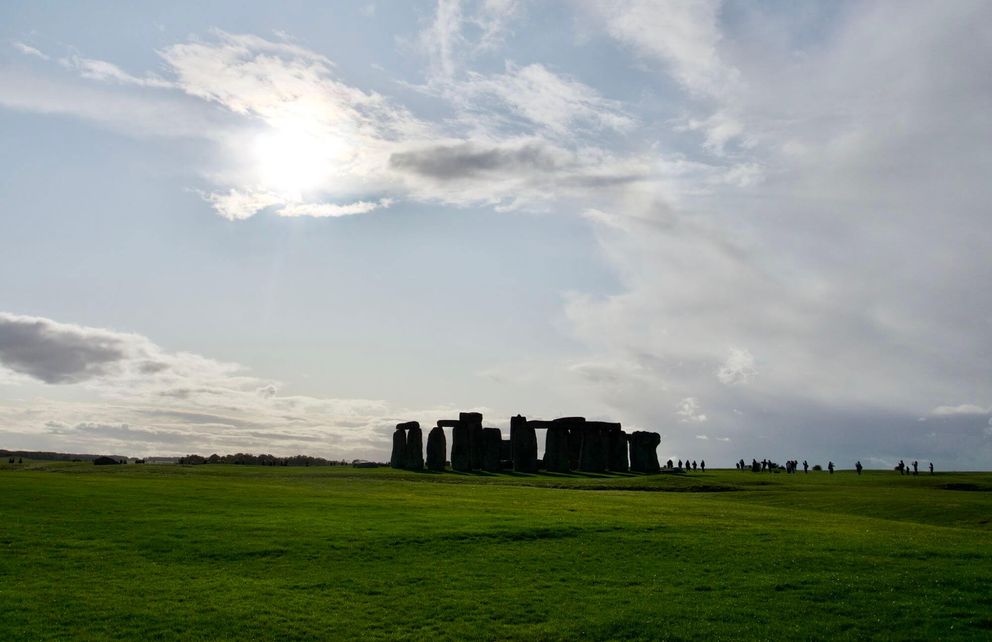 Stonehenge in the shadows