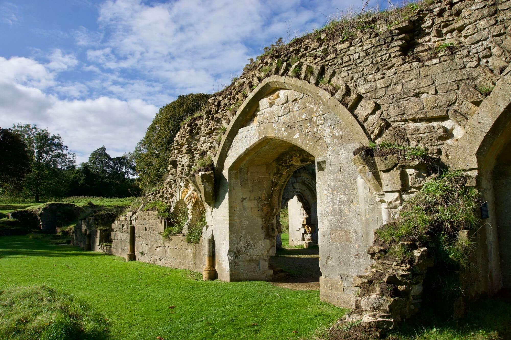 Hailes Abbey ruins near Winchcombe