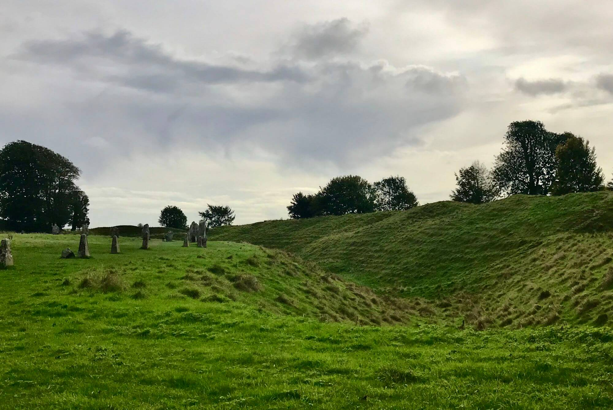 A portion of Avebury stone circle in England