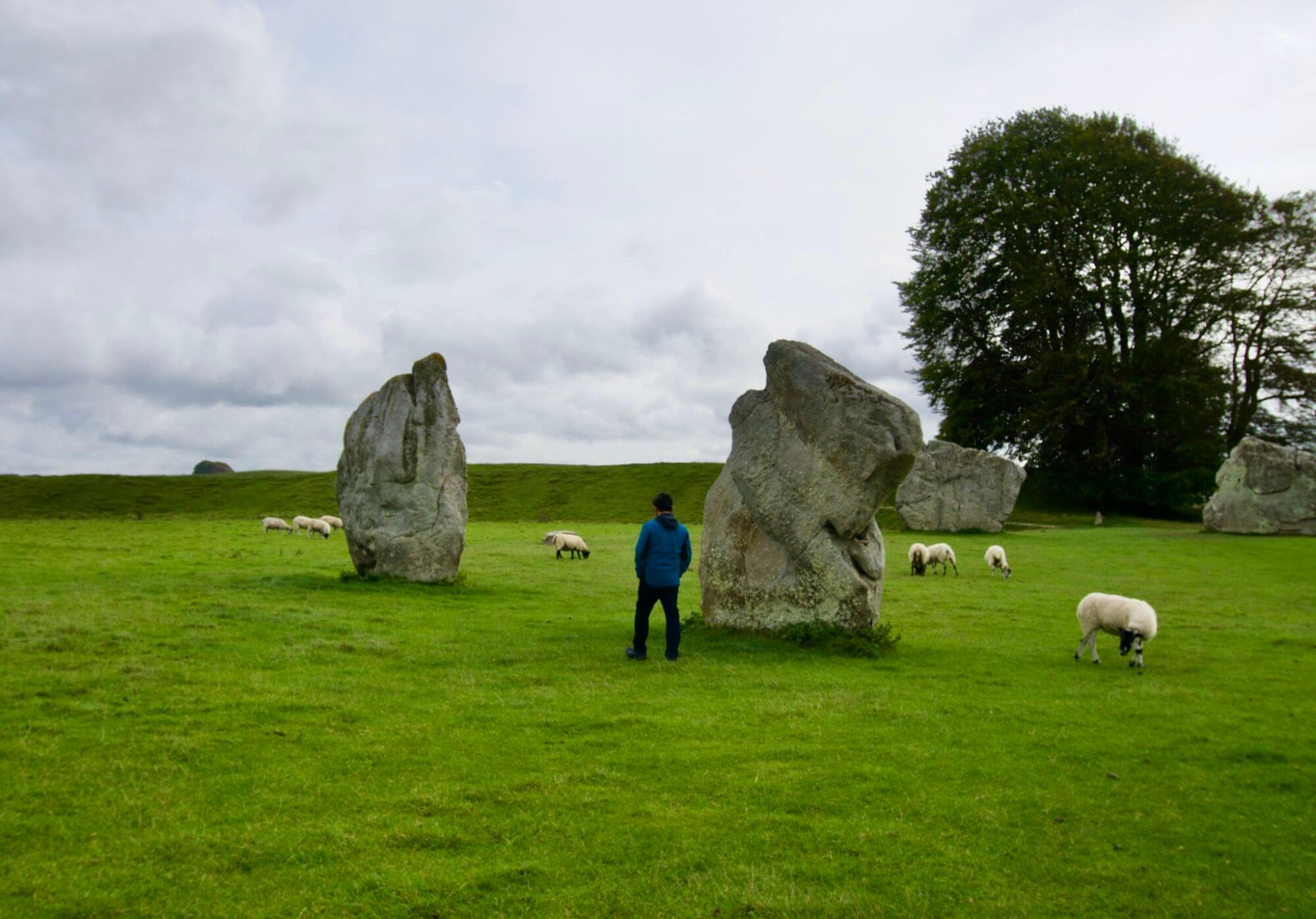 Jason walking along the Avebury stone circle