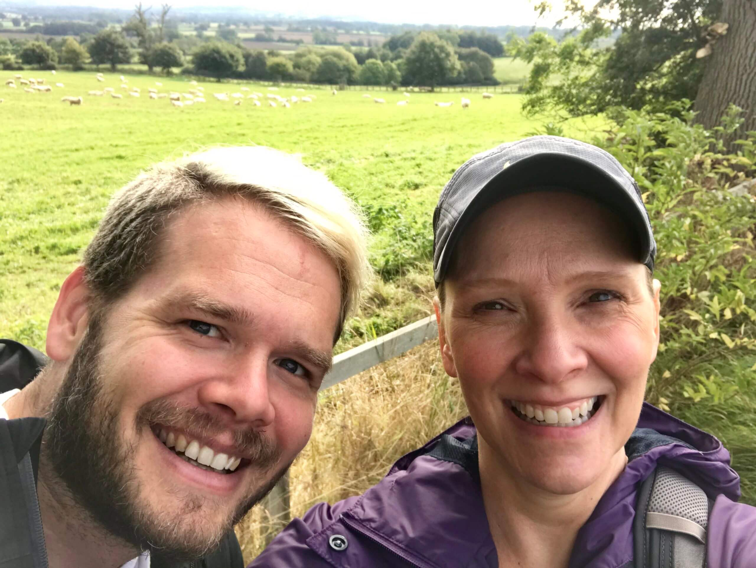 Wendy and Erik along the Cotswold Way