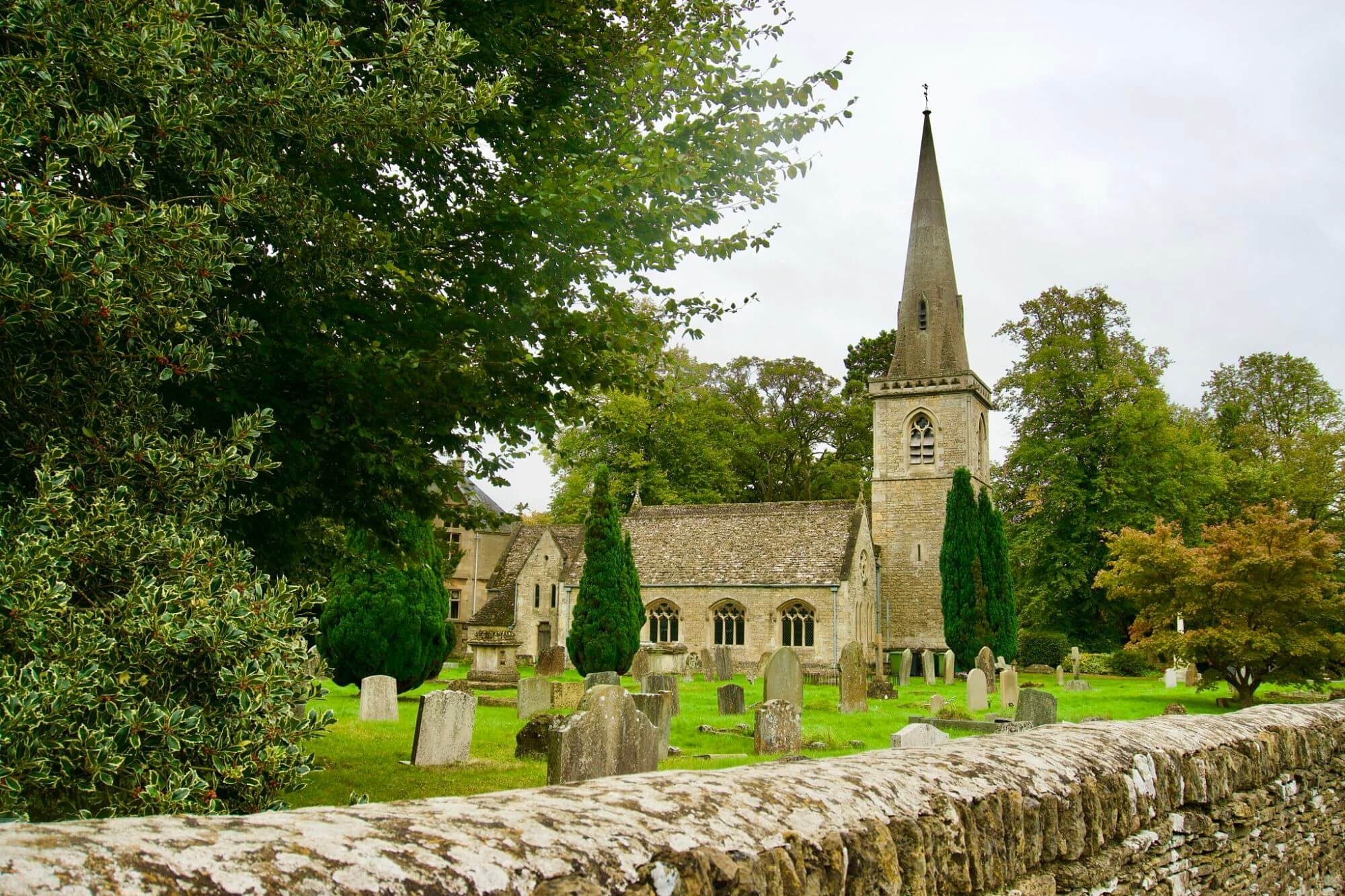Church in Upper Slaughter in The Cotswolds