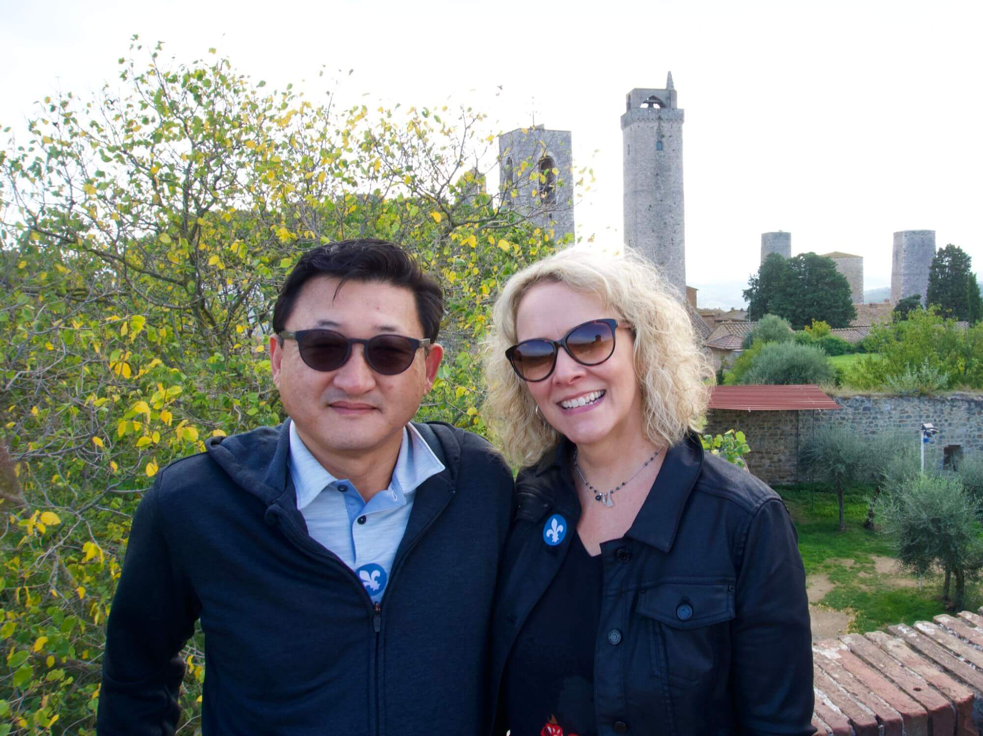 Wendy and Jason at San Gimignano