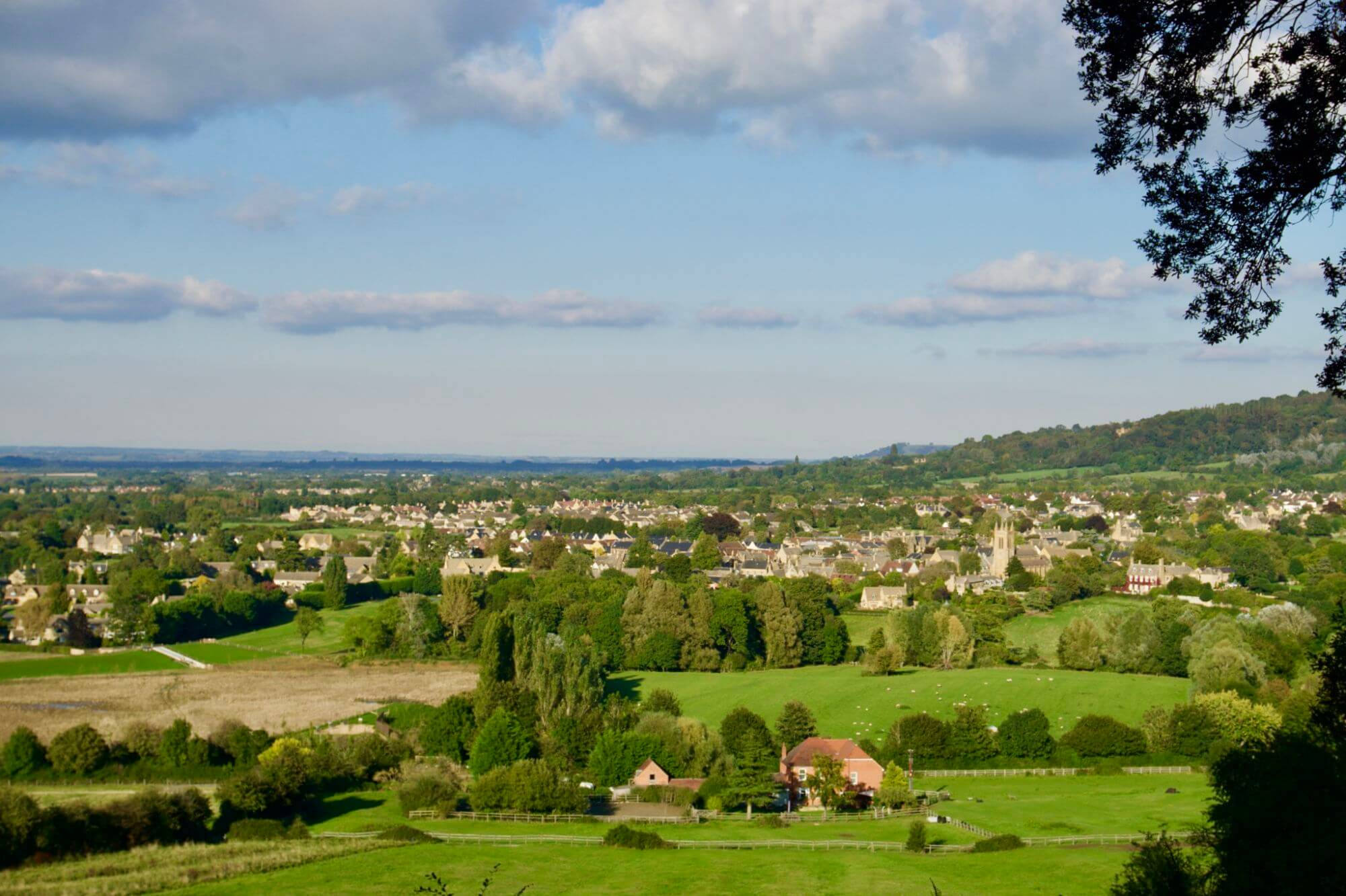 View of Broadway in the Cotswolds