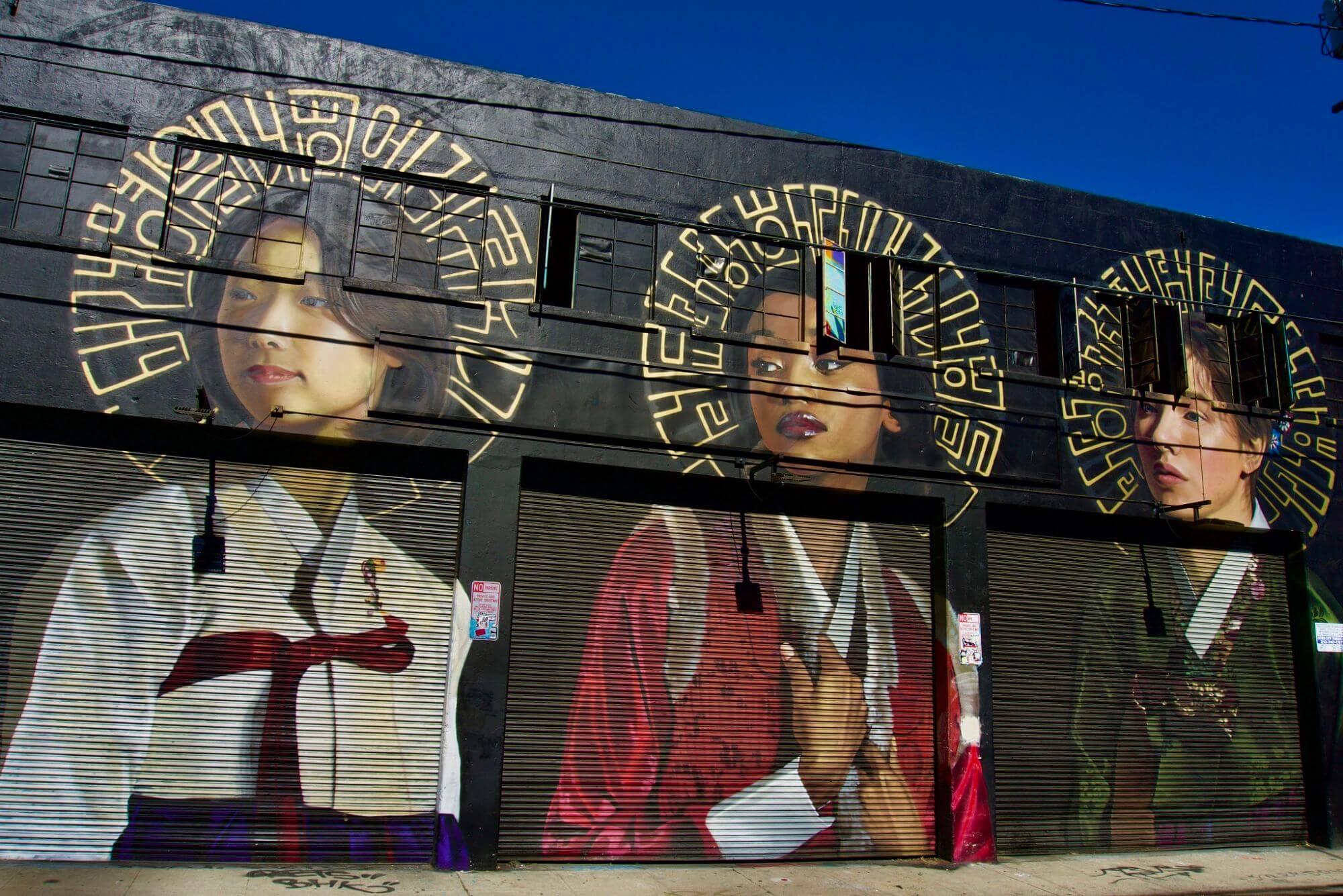 Street mural in downtown Los Angeles