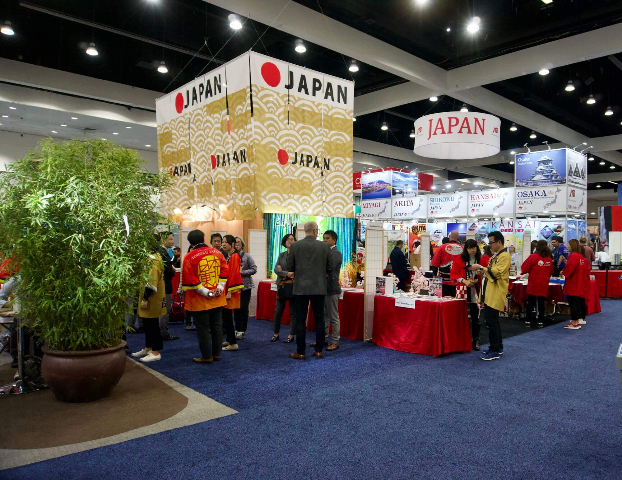 The Japan booth at the Travel and Adventure Show in Los Angeles