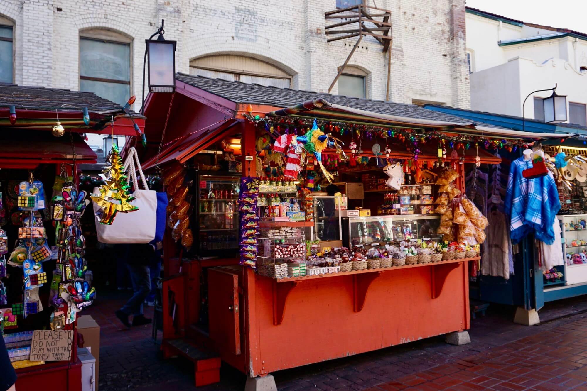 Olvera Street shopping stalls