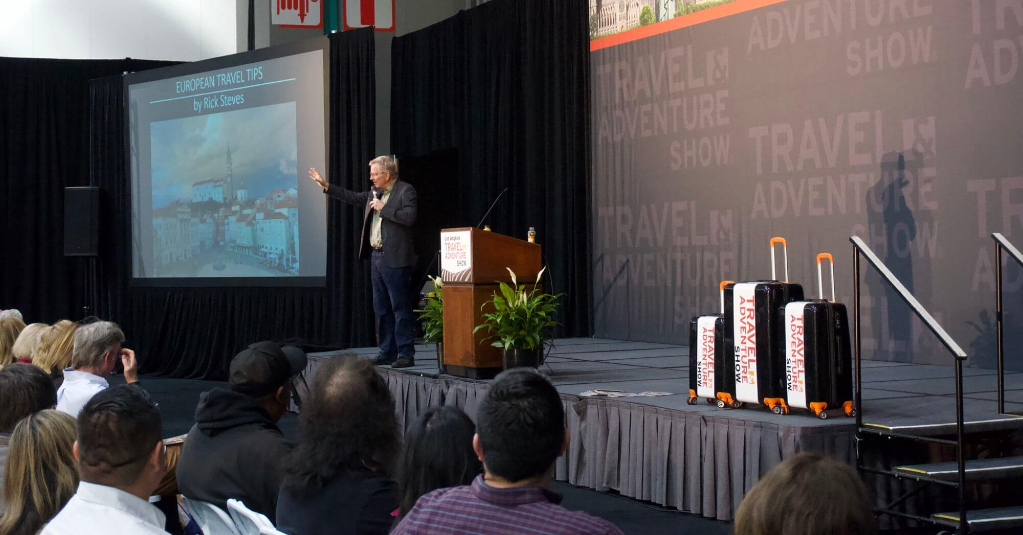 Rick Steves at the Travel and Adventure Show