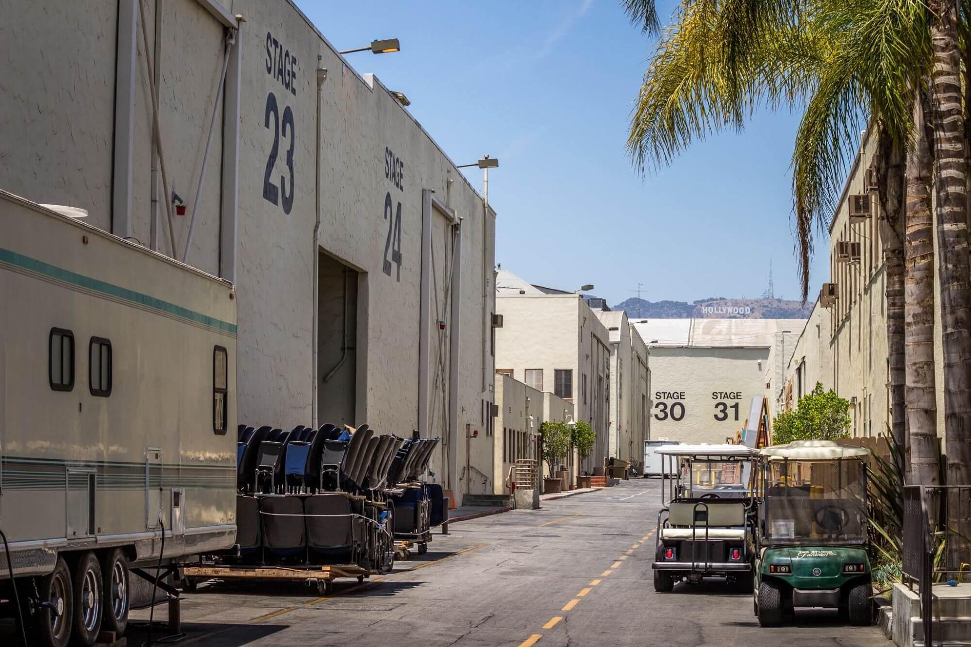 Backlot at Paramount Studios