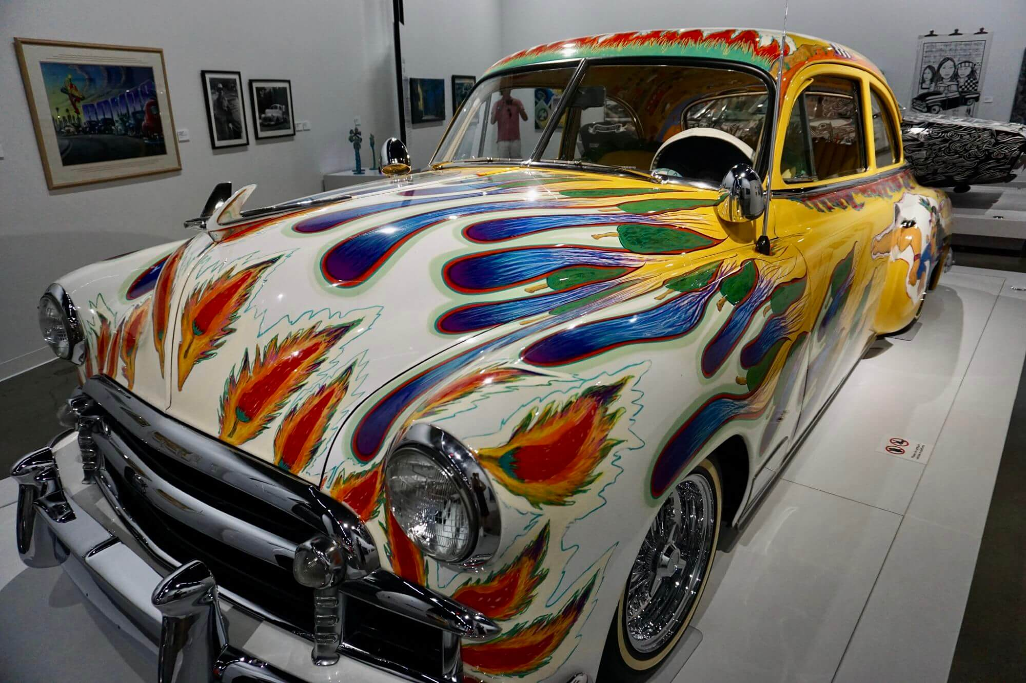 A lowrider exhibit at the Petersen Automotive Museums