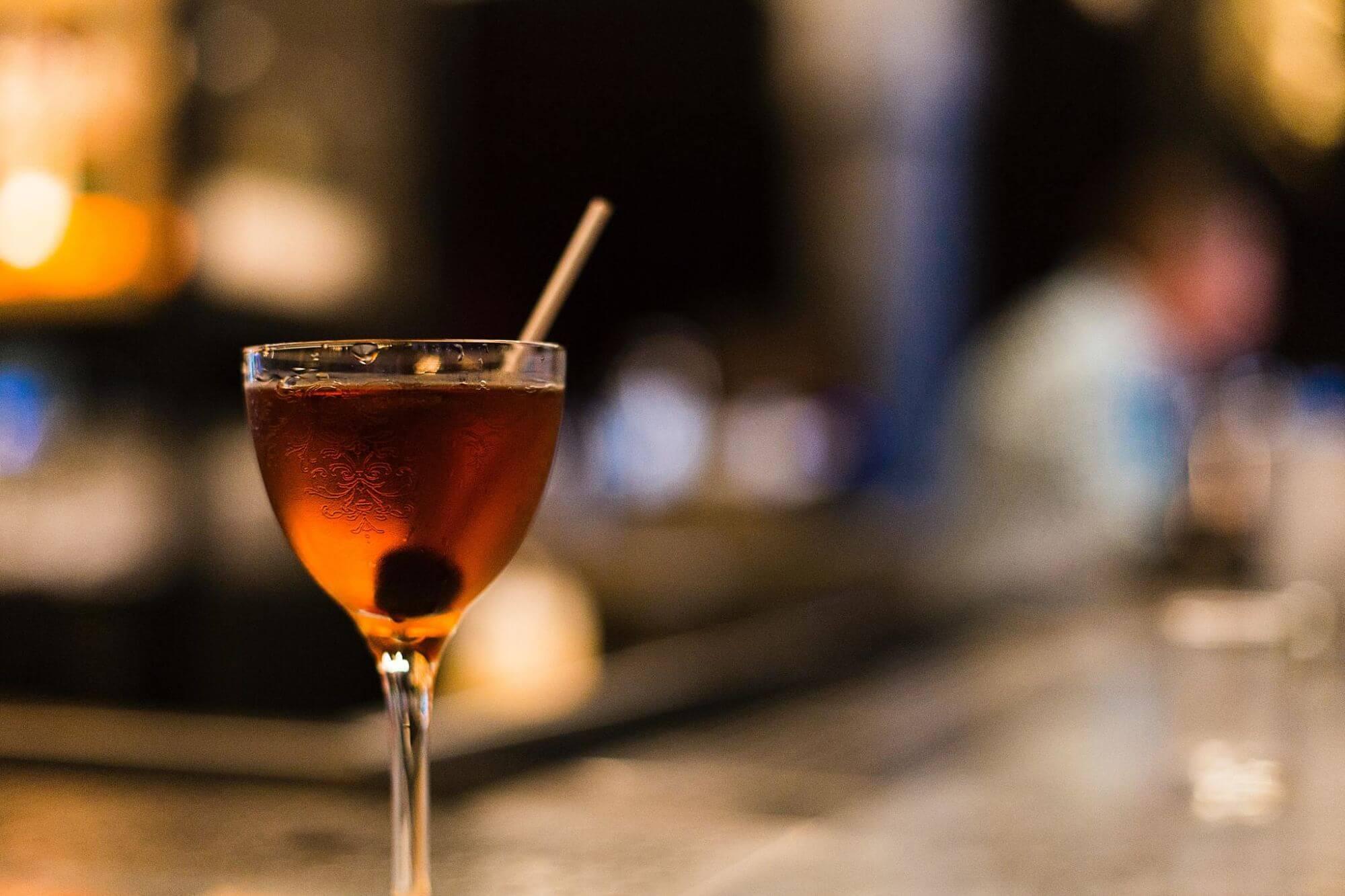 Trip Around the world in 5 cocktails--Manhattan from the U.S.