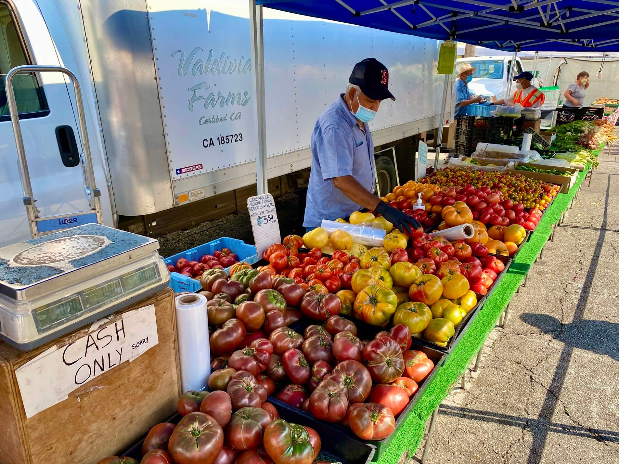 Produce stall at Santa Monica Farmers Market