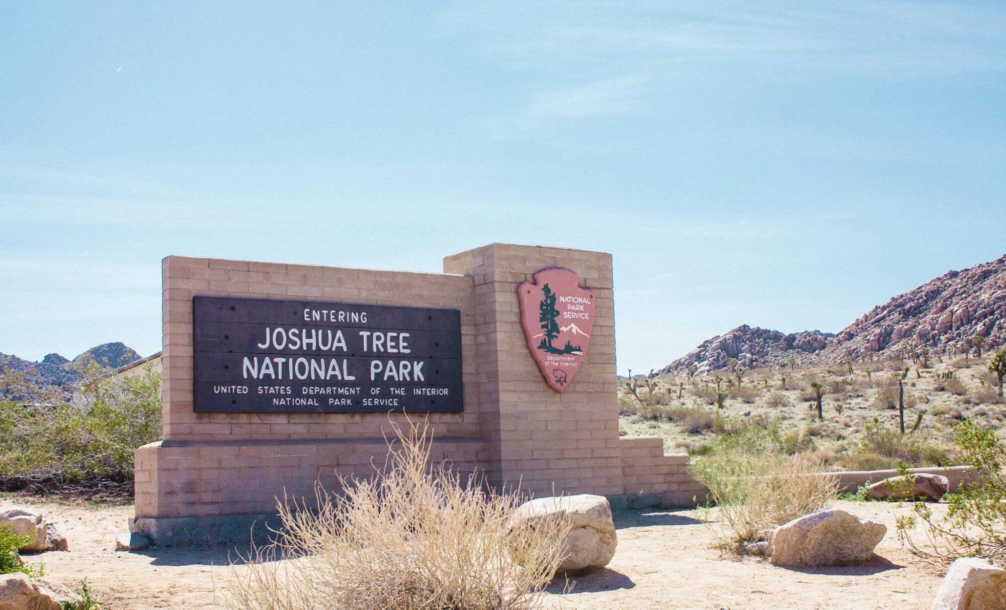 Entrance to Joshua Tree National Park