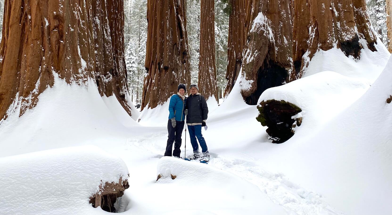 Wendy and Jason in Sequoia National Park