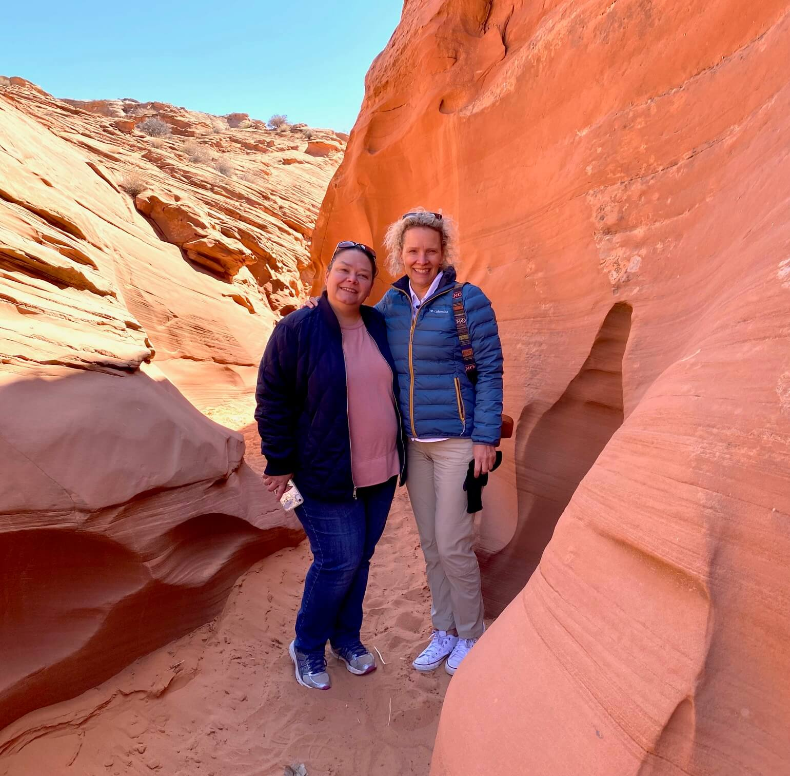 Wendy and Beth in Grand Staircase Escalante National Monument
