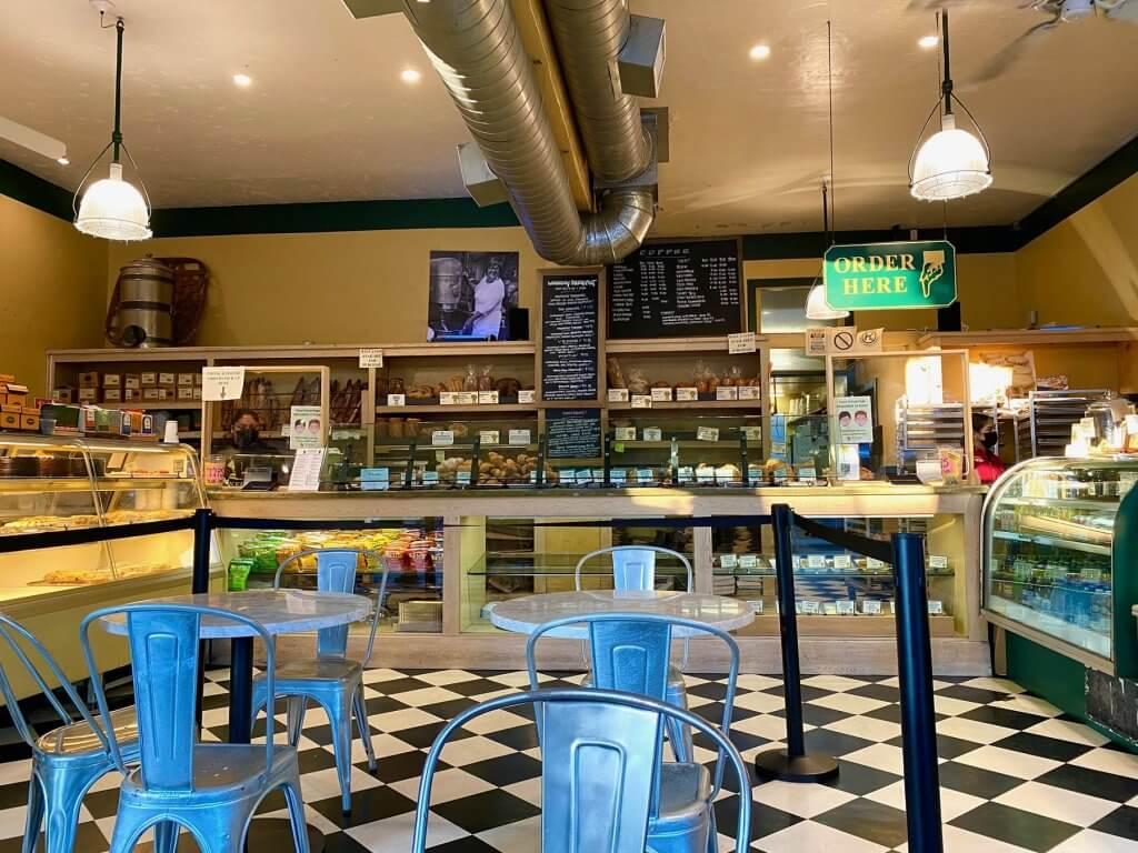 Inside Model Bakery in St. Helena