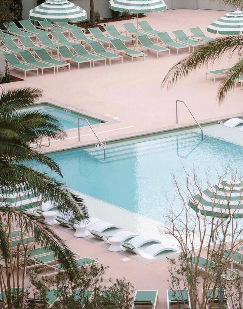 Pool at Park MGM in Las Vegas